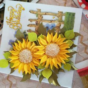 Sunflower Metal Cutting Dies Stencil DIY Scrapbooking Album Paper Card Embossing