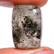 Natural rutile moss agate gemstone radiant cabochon 20X14X7 mm 21 ct.E-7114