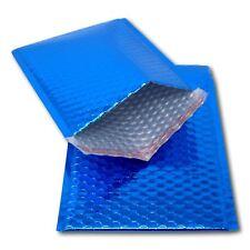 5 Blue 250mm x 180mm A5/C5 DVD Shiny Metallic Bubble Padded Mailing Envelopes