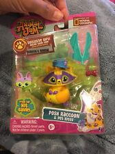 ANIMAL JAM GAME POSH RACCOON & PET KITTY  FIGURE TOY WITH CODE  2016