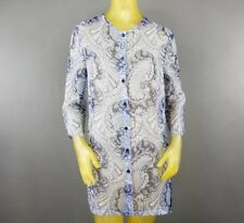 Cimmaron Dress Button Down Sheer Floral Shirt Size 10 Multi-Color Lightweight