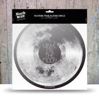 RockonWallUSA - Vinyl Record Player Felt  Slip Mat - Vinyl on the Moon