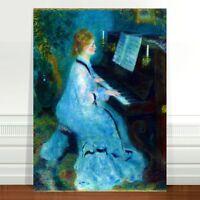 "Auguste Renoir Girl at Piano ~ FINE ART CANVAS PRINT 18x12"""