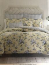 Laura Ashley Cassidy 5-PC Floral,Yellow Comforter Set  New Twin