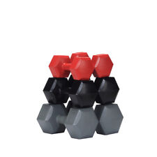 MuscleSquad 3 piece 24kg Hex Dumbbell Set 2, 4 6kg pairs