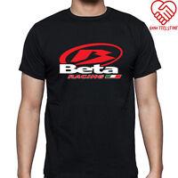 New Beta Racing Italia Logo Men's Black T-Shirt Size S-3XL