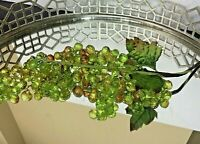 Acrylic Grapes Vintage Clusters Green and Gold Hollywood Regency #EL991