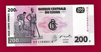 BEAUTIFUL CONGO UNC BANKNOTE: 200 Francs 2013 - (P-99b) Printer: (G&D) - GERMANY