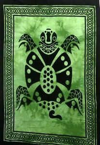 Poster Small Tortoise Wall Hanging Cotton Tapestry Indian Handmade Home Decor