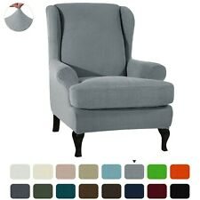 Subrtex Elastic Chair Cover Wing Back Arm Chair Sofa Slipcover 2Pcs Protector