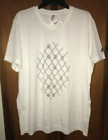 NWT Men's Adidas Basketball Chainlink Hands T-shirt DU6286. Size X-large & White