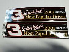 2001 Dale Earnhardt 3 Nascar Racing Bumper Sticker/WinCraft Racing Lot of 2