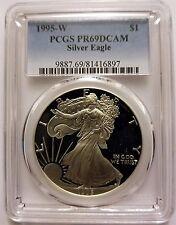 1995 W Proof American Silver Eagle - PCGS PR69 DCAM  KEY DATE NO SPOTS EXCELLENT