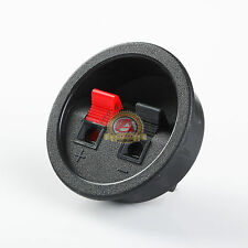 Round Home/Car Subwoofer Speaker Box Terminal Cup Spring Connector Sub Plug Box