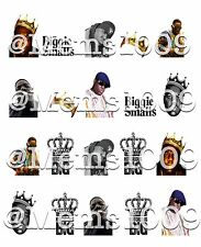 Biggie Smalls Nail Decals (water Decals) Notorious BIG Nail Art
