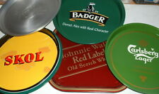 PUB BREWERY BEER DRINKS TRAYS BADGER CARLSBERG SKOL WHISKY RINGWOOD SMITHS etc