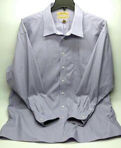 Gold Label Dress Shirt Mens Size 18.5-36 Tall Non Iron Button Up Purple