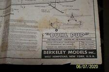 """Berkeley Model Airplane Plans BUHL PUP scale 37-1/2"""" wingspan"""