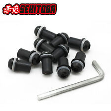 10pcs M5 Bolts Well Nuts Hex Key Washers for Motorcycle Windscreen Windshield