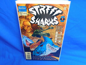 Street Sharks #1 - Archie Adventure Series - Volume 2 1996 From The Deep VF/NM
