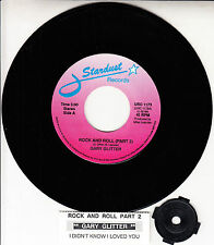 """GARY GLITTER Rock And Roll (Part 2) & I Didn't Know I Loved You 7"""" 45 record NEW"""