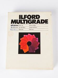 Ilford Multigrade Above Lens Filter Kit - 7.5 x 7.5cm. 11 Filters, Grades 0 to 5