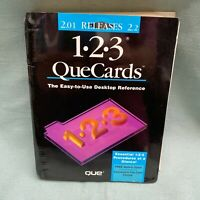 Lotus 123 Standup Que Cards New Release 2.01 2.2 Desktop Reference Manual Book