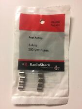 Radio Shack Fast Acting Fuses 250V, 3A, 6x30mm. 270-1009 - 4 Pack