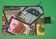 """LOTTERIA CARDS""-  Coin Purse w/ Key Ring -Handmade-5"" X 3.5"""