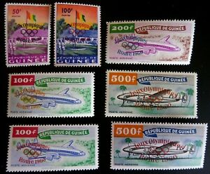 Guinea 1960 Rome Olympics ovpts. full set perfect mn/h + 2nd colour alternatives