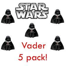 "5 Pack Star Wars Darth Vader Plush Zip-Up Clip-On 7"" Soft Item Holder"