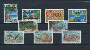 LO42752 Kiribati youth year fish shell coral fine lot MNH