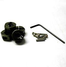 57807T 1/10 Scale RC M12 12mm Alloy Wheel Locking Hubs Adapter Nut Titanium 7mm