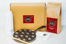 Gift Box, Poffertjes Pan, Mixture, Squeeze Bottle, Turning Skewer & Instructions