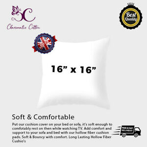 """Cushion Pads Inners Fillers Inserts 16""""x16""""Inch HollowFibre Corvin Polypropylene"""