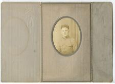 Military Man In Uniform, Vintage Portrait In Period Card/Mat