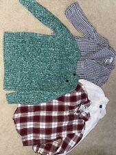 Janie And Jack Tops Boys Size 4T: Checked Blazer, Sweater, Botton Downs