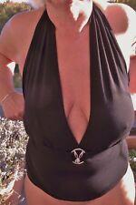 Sexy Playboy Bunny Neckholder-Top  schwarz  Size M - L