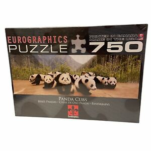 Eurographics Panda Cubs Jigsaw Puzzle Sealed 750 Pieces 12 x 36