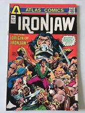 IRONJAW. NO.4. ORIGIN ISSUE. VINTAGE 1975. ATLAS COMICS. VG/FN. 5.0.