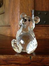 Original SWAROVSKI Bär sitzend Kristall Vitrine Sammler Bear Bärchen Teddy