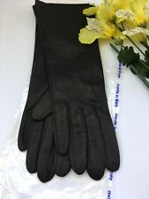Black Soft Leather Gloves Made In Italy Size 7 New/Old Stock