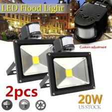 New listing 2X 20W Pir Security Motion Sensor Led Flood Light Waterproof Outdoor Garden Lamp