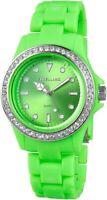 Excellanc Damenuhr Grün Kunststoff Strass Analog Quarz Armbanduhr X225186000003