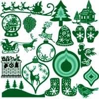 Weihnachten Kartenherstellung Prägeschablone Scrapbooking Schneidwerkzeuge