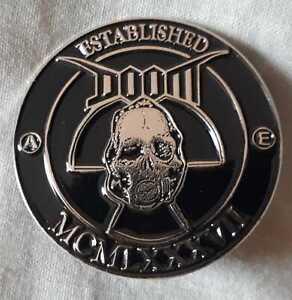 Doom - Established 1987 metal badge (crust, punk)