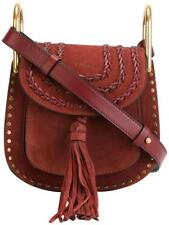 New Authentic Chloe Mini Hudson Suede Tassel Shoulder Bag Burgundy