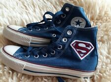 Girls, ladies, SUPERMAN High Top Converse Comics All Star Canvas Sneakers Size 3