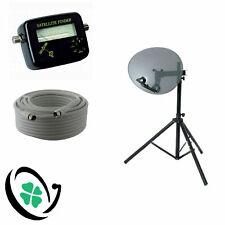 SKY FREESAT Satellite Dish Zone 2 Quad LNB Tripod Finder 10m Cable Camping Kit