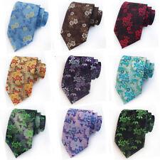 Men's Bright Color Floral Neck Ties High Grade Business 8CM Wide Tie Flower Prin